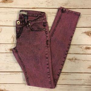 [Vanilla Star] Pink Acid Wash Jeans